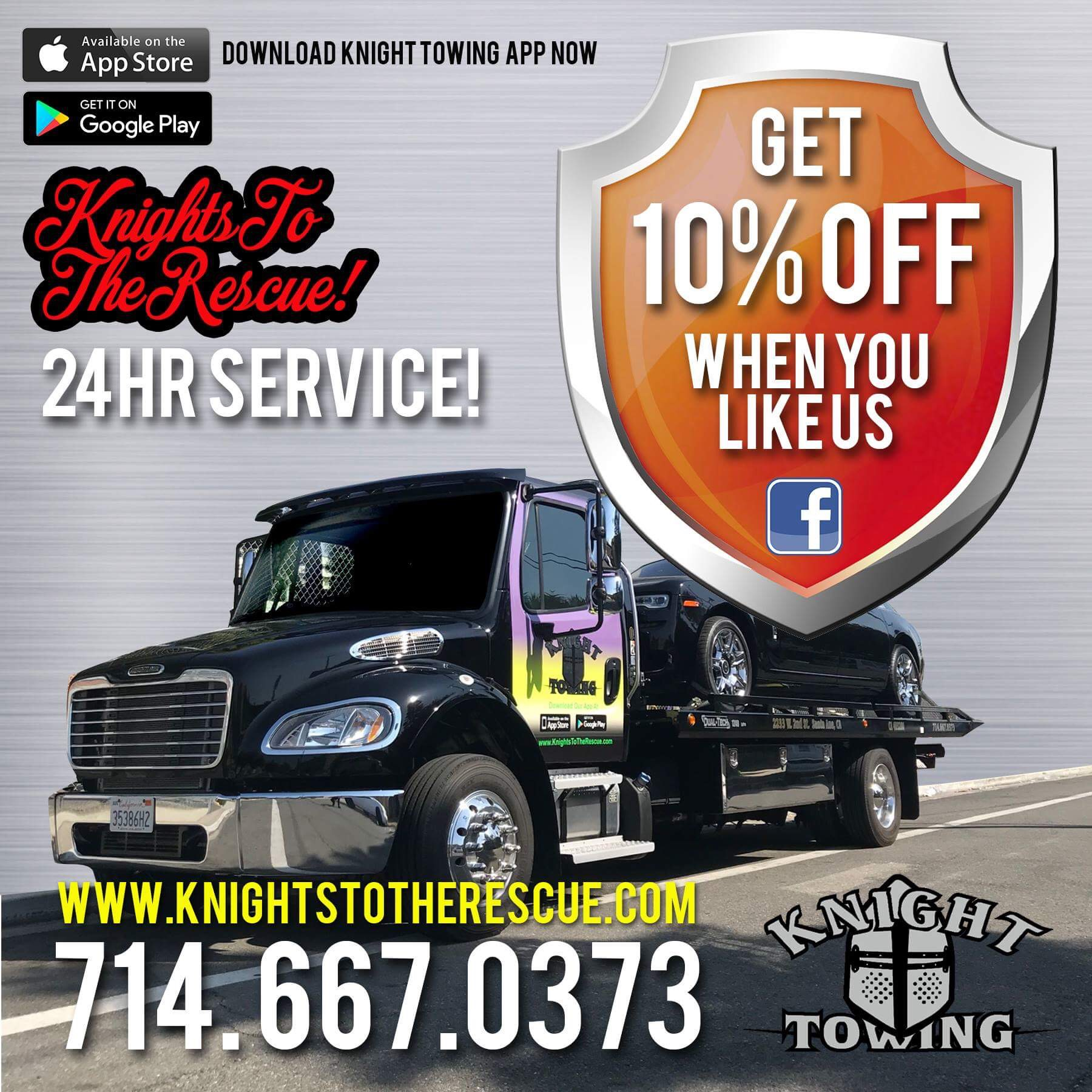 Like Knight Towing on Facebook