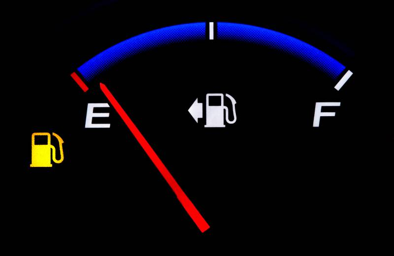 No gas or fuel